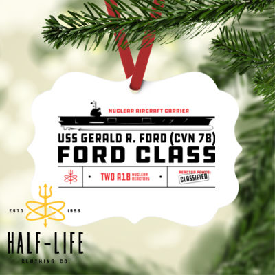 Custom personalized Ford Class Aircraft Carrier - Benelux Christmas Ornament (HLCC) Thumbnail