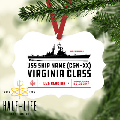 Custom personalized Virginia Class Cruiser - Benelux Christmas Ornament (HLCC) Thumbnail