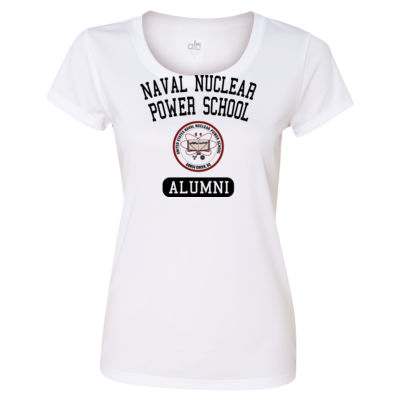 Naval Nuclear Power School Goose Creek, SC Alumni (Vertical) - Light ALO Sport Ladies' Polyester T-Shirt Thumbnail