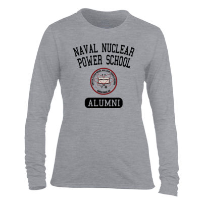 Naval Nuclear Power School Goose Creek, SC Alumni (Vertical) - Light Ladies Long Sleeve Ultra Performance Active Lifestyle T Shirt Thumbnail