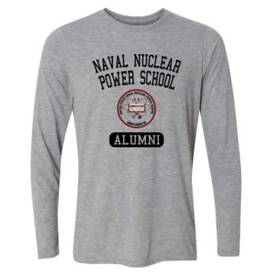 Naval Nuclear Power School Goose Creek, SC Alumni (Vertical) - Light Long Sleeve Ultra Performance Active Lifestyle T Shirt Thumbnail