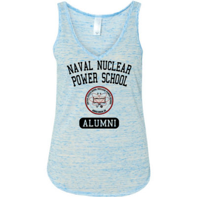 Naval Nuclear Power School Goose Creek, SC Alumni (Vertical) - Ladies' Flowy V-Neck Tank Thumbnail
