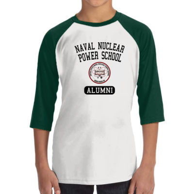 Naval Nuclear Power School Goose Creek, SC Alumni (Vertical) - ALO 100% Performance Youth Baseball T-Shirt Thumbnail
