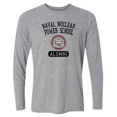 Naval Nuclear Power School Bainbridge Alumni (Vertical)  - Light Youth Long Sleeve Ultra Performance Active Lifestyle T Shirt Thumbnail