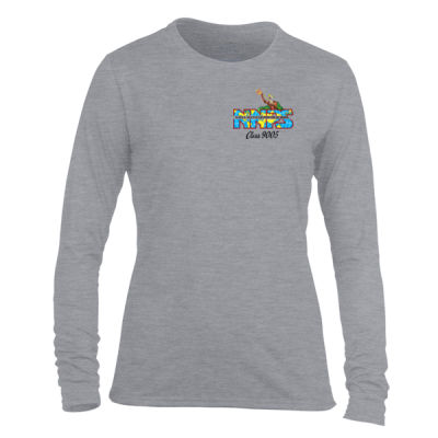 NNPS Alumnus with Poseiden & Class Number - Light Ladies Long Sleeve Ultra Performance Active Lifestyle T Shirt Thumbnail