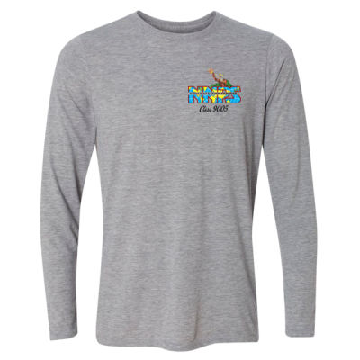 NNPS Alumnus with Poseiden & Class Number - Light Youth Long Sleeve Ultra Performance Active Lifestyle T Shirt Thumbnail