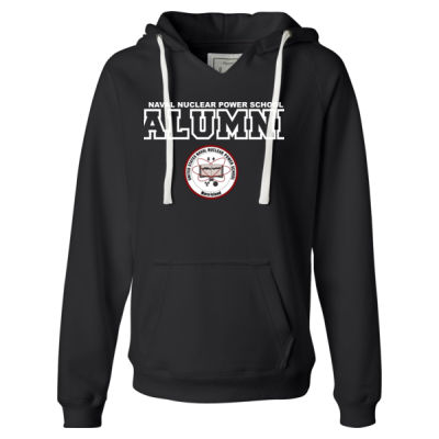 NNPS Alumni - Mare Island - Ladies' Sueded V-Neck Hooded Sweatshirt Thumbnail