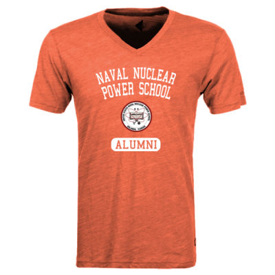 Naval Nuclear Power School Orlando Alumni (Vertical) - Triblend V-Neck T-Shirt Thumbnail