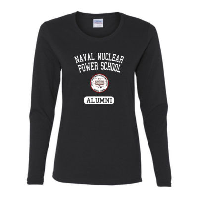 Naval Nuclear Power School Orlando Alumni (Vertical) - Gildan Ladies Ultra Cotton™ Long Sleeve Missy Fit T Shirt Thumbnail
