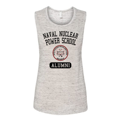 Naval Nuclear Power School Goose Creek, SC Alumni (Vertical) - Bella Flowy Scoop Muscle Tank (S) Thumbnail