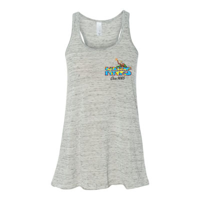 NNPS Alumnus with Poseiden & Class Number - Bella Ladies' Flowy Racerback Tank (S) Thumbnail