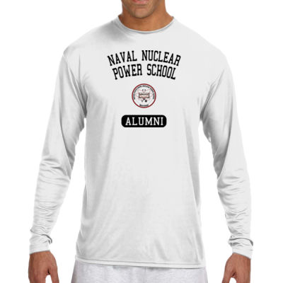 NNPS Alumni - Mare Island (Vertical) - (S) Long Sleeve Cooling Performance Crew Light Color Shirt Thumbnail