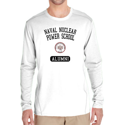 NNPS Alumni - Mare Island (Vertical) - (S) Adult Tech Long-Sleeve Light Color T-Shirt Thumbnail