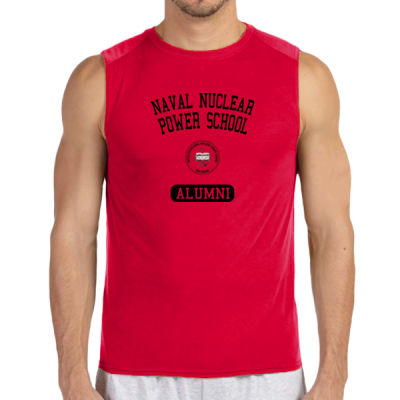 NNPS Alumni - Mare Island (Vertical) - (S) Performance™ 4.5 oz. Sleeveless Light Color T-Shirt Thumbnail