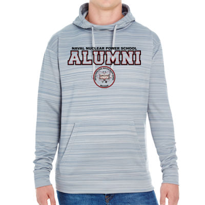 NNPS Alumni - Mare Island (H) - JAmerica Unisex Poly Fleece Striped Pullover Hoodie Thumbnail