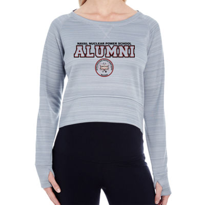 NNPS Alumni - Mare Island (H) - Ladies' Striped Poly Fleece Hi-Lo Crew Thumbnail
