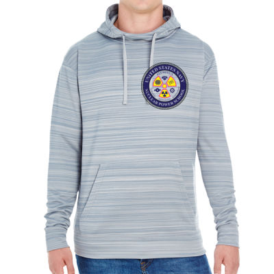 NNPS Alumnus - JAmerica Unisex Poly Fleece Striped Pullover Hoodie Thumbnail