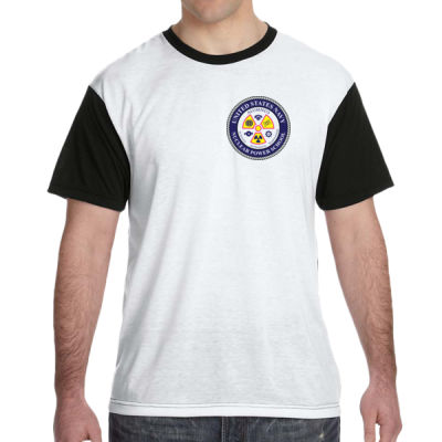 NNPS Alumnus - White Shirt with Black Sleeves/Back T-Shirt Thumbnail
