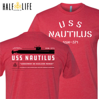 USS Nautilus - Underway on Nuclear Power - Men's CVC Crew Thumbnail