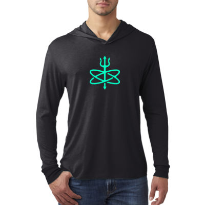 Glow in the Dark Atomic Trident of Poseidon - Adult Triblend Long-Sleeve Hoody Thumbnail