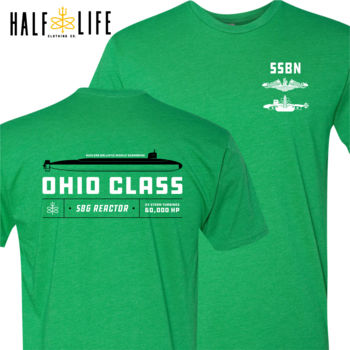 Ohio Class Ballistic Submarine Men's Triblend Crew (Stock) Thumbnail