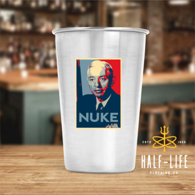 Rickover Contemporary Nuke - 17 oz Stainless Steel Pint Glass (HLCC) Thumbnail