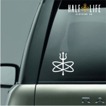 Atomic Trident Die Cut Decal  - White Thumbnail